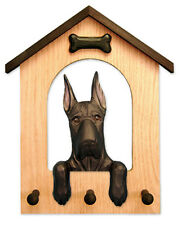 Adult Great Dane Dog House Leash Holder. In Home Wall Decor Products & Gifts.