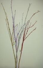 "36"" Glitter Twig Spray for Flower Arrangements Various Colours Available"