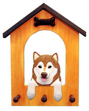 Alaskan Malamute Dog House Leash Holder. In Home Wall Decor Wood Products-Gifts.