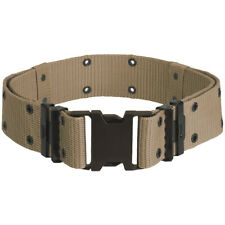 US ARMY LC-2 PISTOL BELT ALICE WEB WEBBING MILITARY COMBAT TACTICAL LC2 : KHAKI
