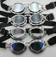Steampunk Style Pilot Motorcycle Scooter ATV Goggle Eyewear T03 Four Lens Color