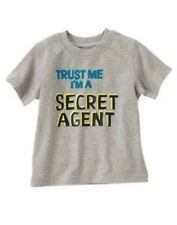 GYMBOREE SPY GUYS GRAY Secret Agent S/S TEE 3 6 NWT