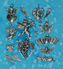 Tibet Silver ANGEL WING, CUPID, ANGEL Charms & Connector Sets - 3 Day USA!!!!