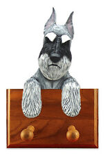 Schnauzer Standard Dog Topper Leash Holder. In Home Wall Decor Products & Gifts.