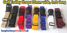 1 Meter x 2 Golf Trolley webbing straps - 25mm wide Various color Luggage straps