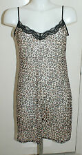 """YOUR"" faMouS Ex Store V-Neck Leopard Print Stretch Lace Full Slip HSO 5506A"