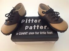 SADDLE SHOES Boys or Girls Infant Toddler BROWN & BEIGE Sizes 1 - 10 NEW