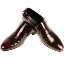 New Handmade Leather Mens Dress Formal Shoes Slip On Loafers Brown Elegant