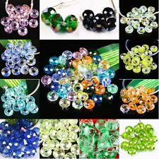 Wholesale Faceted Crystal Glass Gemstone Large Hole Beads Fit EP Charms Bracelet