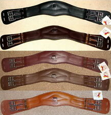 FSS German Leather Humane Anatomic Curve Comfort Padded Dressage Short Girth New