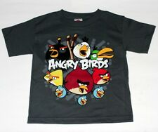 ANGRY BIRDS Rovio Mobile Video Game Fifth Sun Gray BOYS KIDS YOUTH T SHIRT New