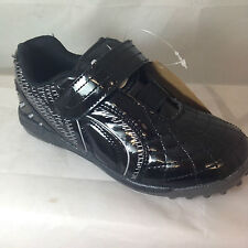 BOYS BLACK ASTRO TURF FOOTBALL TRAINERS PUMPS ASCOT SHOES NEW ALL SIZES SPORTS