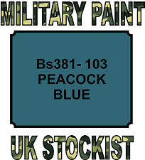 381-103 PEACOCK BLUE MILITARY PAINT METAL STEEL HEAT RESISTANT ENGINE  VEHICLE