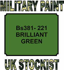 221 BRILLIANT GREEN MILITARY PAINT METAL STEEL HEAT RESISTANT ENGINE  VEHICLE
