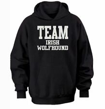 TEAM IRISH WOLFHOUND HOODIE  warm cozy top - dog and puppy pet owners