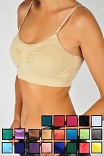 SEAMLESS SPORTS BRA, TANK TOP, REMOVEABLE LIGHT BRA PAD, WITH STRAPS