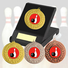 Ten Pin Bowling Medal in Presentation Box F/Engraving - Ten Pin Bowling Trophies