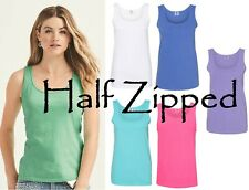 Bella Ladies Sheer Longer Length Racerback Tank Top T-Shirt Womens 8770 S-2XL