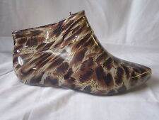 LADIES WELLINGTON SHOES LEOPARD PRINT