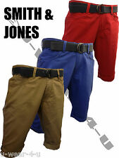 LATEST MENS SMITH&JONES HENDREX CHINO SHORTS. SIZE 28-38. BLUE, RED, CAMEL