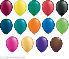 """50 x 11"""" Wedding / Party Balloons for Helium or Air Fill - Metallic Pearl Finish"""