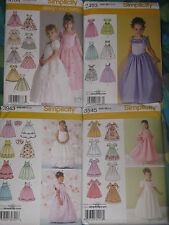 Simplicity Flower Girl's~Princess~Communion~Pageant~Party Dress Gown Pattern