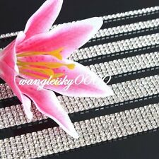 1 Yard 1Rows 2Rows 3Rows 4Rows Crystal Cake Banding Rhinestone Ribbon Wedding