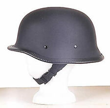 GERMAN WWII WW2 Unisex Flat Black NOVELTY BIKER HELMET w/ Y Strap Q Release New