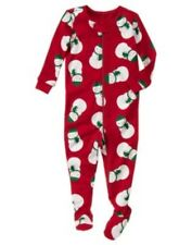 GYMBOREE WISH ON A STAR RED SANTA FOOTED GYMMIES ONE PIECE 3 6 12 NWT