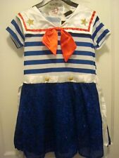Sequined 40s Sailor Complete Costume Girls Hat Cuffs Boutique Halloween NEW