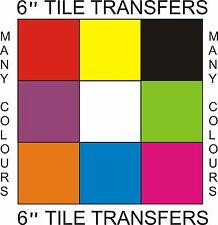 """6"""" Tile Transfers/Stickers 6"""" Packs of 10,20,30,40,50 many colours"""