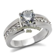 Women's 316L Beautiful Stainless Steel Wedding/Engagement Ring SIZE 5-10