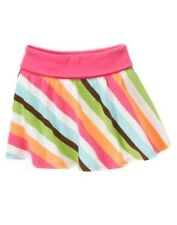 GYMBOREE GROWING FLOWERS STRIPE KNIT SKORT 4 5 6 7 NWT
