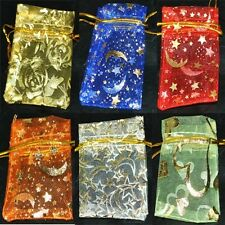 Ships free 5sizes-13 colours Premium Organza Jewellery bags pouch RANDOM PATTERN