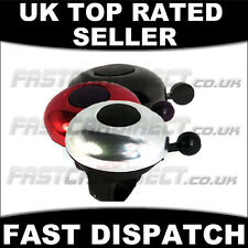 BICYCLE BELL ALUMINIUM UNIVERSAL RED BLACK SILVER BIKE CYCLE BELLS HANDLEBAR NEW