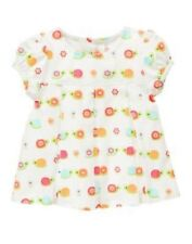 GYMBOREE GROWING FLOWERS IVORY SNAIL WOVEN S/S TOP 6 12 18 24 2T 3T 4T 5T NWT
