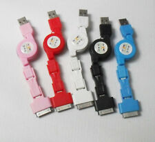 3 IN 1 Retractable USB Sync charger Cable For iPhone 4G iPad2 Micro Mini USB