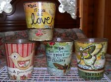 Kelly Rae Collection - Tin/Metal Planters - Various Sayings to Choose From - NEW
