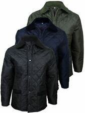 Mens Made In England Diamond Quilted Hunter Style Military Jacket/ Coat