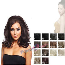 Half head Wig Hair Fall curly reversible hair piece extensions Synthetic