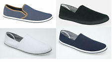 Mens Canvas Pumps Slip On Plims Summer Shoes Espadrilles Ladies Size 3 to 12 New
