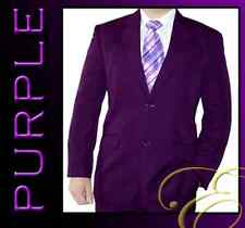 NEW PURPLE 2 BUTTONS MENS SUIT SCHOOL FORMAL MICROFIBRE