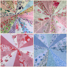 CLEARANCE  fabric bunting vintage wedding shabby chic floral spot stripe gingham