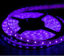 Home Theater Theatre floor shelf LED Light Strip SMD 3528 300 LEDs 20/ft PURPLE
