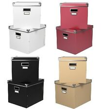 IKEA Kassett Magazine Storage Box with lid, 2 Pack boxes w lids New fits EXPEDIT