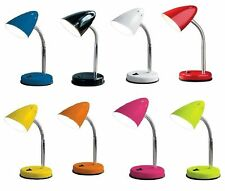 NEW DECORATIVE FLEXIBLE NECK TABLE DESK LIGHT LAMP BED SIDE LIGHT IN 7 COLORS
