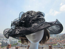 Womens Vintage Kentucky Derby Sun Hat Wide Brim Wedding Church Racing 8 color