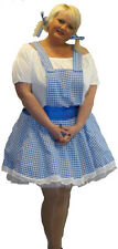 A REAL PLUS SIZE 18-40 SWEET AND SEXY DOROTHY WIZARD OF OZ FANCY DRESS COSTUME