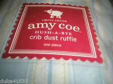 New Amy Coe, Circo,Tiddliwinks Crib Skirt Dust Ruffle Colorful nice Nursery Baby