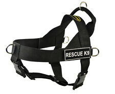 No Pull Universal Dog Harness with Patches Rescue K9